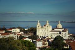 La iglesia o el monasterio del sao Vicente de Fora en Lisboa Imagen de archivo libre de regalías