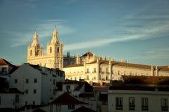 La iglesia o el monasterio del sao Vicente de Fora en Lisboa Imagenes de archivo