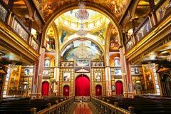 La iglesia ortodoxa copta dentro en Sharm el Sheikh Foto de archivo