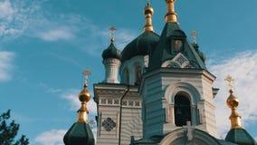 La iglesia ortodoxa de Foros en Crimea, ve cerca metrajes
