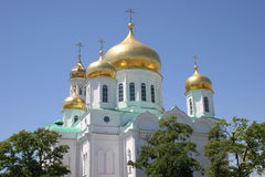 La iglesia ortodoxa de la catedral de Rostov Fotos de archivo libres de regalías