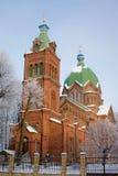 La iglesia ortodoxa de todos los santos en Riga. Foto de archivo