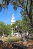 La iglesia parroquial anglicana de St. Helena en Beaufort, Ca del sur Imágenes de archivo libres de regalías