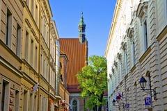 La iglesia parroquial - catedral de la diócesis de Bydgoszcz Imágenes de archivo libres de regalías