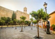 La iglesia parroquial de Nuestra Senora de las Nieves está situada en Foto de archivo libre de regalías