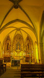 La iglesia parroquial de Santa Pau Imagenes de archivo