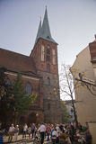La iglesia vieja de Nikolai de Berlín Foto de archivo libre de regalías
