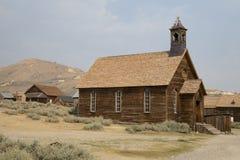 La iglesia vieja en bodie Fotos de archivo libres de regalías