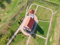 La iglesia vieja en la región de Zaslavl Minsk, Bielorrusia Fotos de archivo libres de regalías
