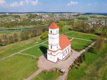 La iglesia vieja en la región de Zaslavl Minsk, Bielorrusia Imagenes de archivo