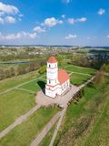 La iglesia vieja en la región de Zaslavl Minsk, Bielorrusia Fotos de archivo