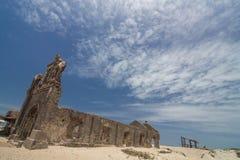 La iglesia vieja permanece después de ciclón Fotografía de archivo libre de regalías