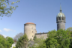 La iglesia Wittenberg de todos los santos Fotografía de archivo libre de regalías