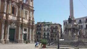 La iglesia y el oratorio de San Domingo (Chiesa di San Domingo), Palermo, Sicilia, Italia fotografía de archivo libre de regalías
