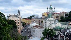 La iglesia y la torre de St Andrew del rey Richard, Kiev, Ucrania Imagen de archivo