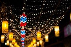 La iluminación en Bangkok Imagen de archivo libre de regalías