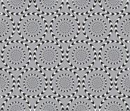 La ilusión óptica, Vector el modelo inconsútil. ilustración del vector