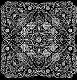 La ilustración cuadrada con blanco se encrespa en negro ilustración del vector