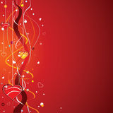 La ilustración del día de tarjeta del día de San Valentín Imágenes de archivo libres de regalías