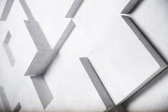 La imagen abstracta del blanco cubica el fondo libre illustration