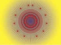 La imagen abstracta del fractal del color. stock de ilustración