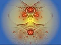 La imagen abstracta del fractal del color. Fotografía de archivo