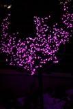 La imagen abstracta desenfocado se enciende en la ciudad o el tono rosa claro de la noche Imagen de archivo