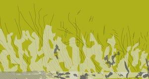 La imagen amarilla del extracto 3 del alerce hace nuevo paisaje imagen de archivo