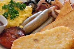 La imagen común del bocadillo Toasted sirvió con las patatas fritas Fotos de archivo