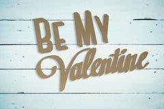 La imagen compuesta de sea mi tarjeta del día de San Valentín Imágenes de archivo libres de regalías