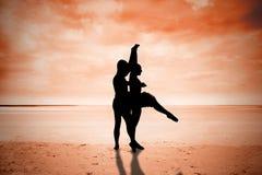 La imagen compuesta del ballet partners el baile Imagen de archivo libre de regalías