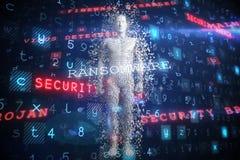 La imagen compuesta del compuesto digital pixelated al varón 3d ilustración del vector