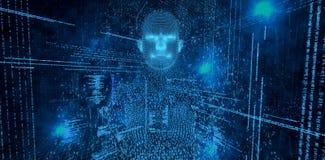 La imagen compuesta del compuesto digital pixelated a la mujer 3d ilustración del vector