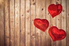 La imagen compuesta del corazón del amor hincha 3d Imagen de archivo
