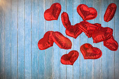 La imagen compuesta del corazón hincha 3d Foto de archivo