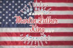 La imagen compuesta del día feliz de Martin Luther King, dios bendice América libre illustration