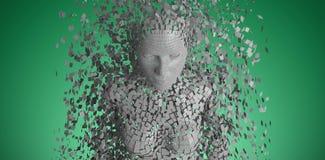 La imagen compuesta del gris compuesto pixelated a la hembra 3d stock de ilustración