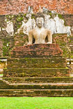 La imagen de Buda en el parque histórico de Sukhothai Imagen de archivo