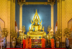 La imagen de Buda en el templo de mármol Imagen de archivo