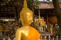 La imagen de Buda en Wat Si Muang o Simuong es un templo budista situado en Vientián, la capital de Laos Imágenes de archivo libres de regalías