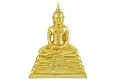 La imagen de cobre amarillo de Buddha Imagen de archivo