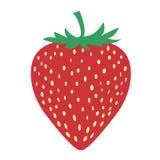 La imagen de la fruta de la fresa es muy simple Imagen de archivo libre de regalías
