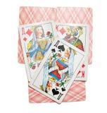 La imagen de tarjetas que juegan Fotografía de archivo