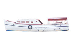 La imagen de un barco de motor Foto de archivo