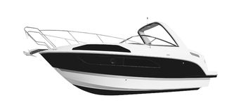 La imagen de un barco de motor del pasajero Fotos de archivo libres de regalías