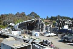 La imagen del accidente de avión Fotografía de archivo