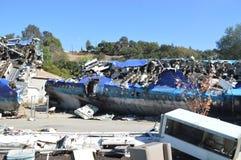 La imagen del accidente de avión Imagenes de archivo
