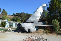La imagen del accidente de avión Imágenes de archivo libres de regalías