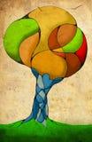 La imagen del hombre-árbol Fotos de archivo libres de regalías