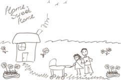 La imagen del niño de la familia Libre Illustration